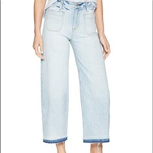 Hudson Jeans Holly High Rise Wide Leg Crop Raw Hem